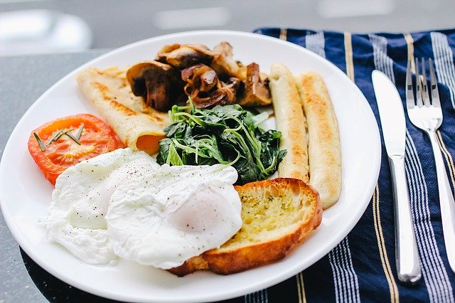 Rochester Area Restaurants Dowtown Cafe image of eggs, toast and sausage